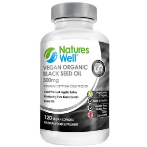 Vegan Premium Black Seed Oil 500mg, 120 Vegan Soft gels