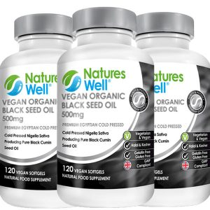 Sunnah Health Bundle,OptimisedMultivitamin and Minerals, Assured Halal and Kosher, 3 Pack Vegan Black Seed Oil 120 Vegan Soft Gels, Discounted by 20%