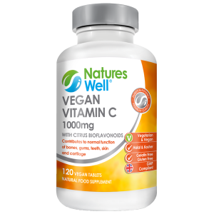 Vegan Vitamin C 1000mg with Citrus Bioflavonoids, 120 Vegan Tablets