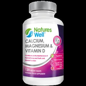 Calcium, Magnesium & Vitamin D, 120 Vegetarian Tablets