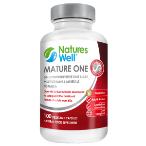 Mature One Optimised Multivitamin& Minerals for 50's, 60's and beyond, 100 Vegetarian Capsules