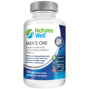 Men's One Optimised Multivitamin and Mineral, 100 Vegetarian Tablets