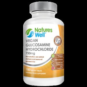 Vegan Glucosamine Hydrochloride 750mg, 100 VeganTablets