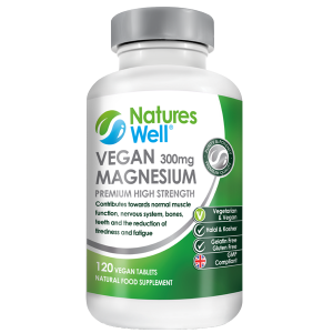 Vegan Magnesium 300mg, 120 High Strength Tablets