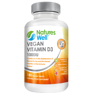 Vegan Vitamin D3 1000IU, 180 Tablets