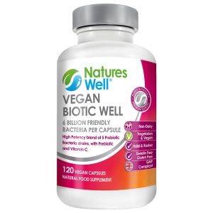 Vegan Biotic Well, High Strength Minimum 6 Billion CFU, 120 Vegan Capsules