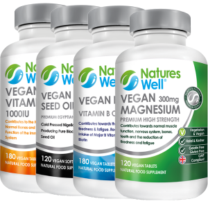 Vegan Fasting & Diet Bundle,OptimisedMultivitamin and Minerals, Assured Halal and Kosher, Vegan Magnesium 300mg 120 Vegan Tablets, Vegan B Well (Complete B) 180 Vegan Tablets, Vegan Black Seed Oil 120 Vegan Soft Gels, Vegan Vitamin D3 1000IU 180 Vegan Tablets, Discounted by 20%