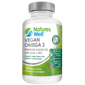 Vegan Omega 3, (DHA &EPA) Algae Oil, 120 Soft Gels