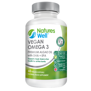 Vegan Omega 3, (DHA &EPA) Algae Oil, 60 Soft Gels