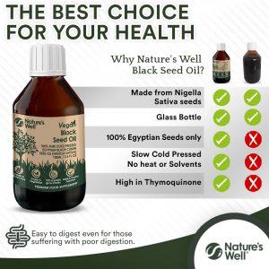 Vegan Black Seed Oil 100ml, Pure Cold Pressed Egyptian Black Cumin Seed Oil (Nigella Sativa)