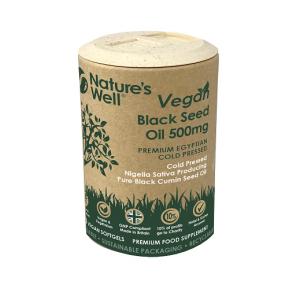 Vegan Black Seed Oil Soft Gel Capsules,120 (Non-GMO & Vegetarian 500mg), Egyptian Cold Pressed Nigella Sativa Pure Black Cumin Seed Oil