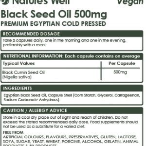 Vegan Black Seed Oil Soft Gel Capsules,120 (Non-GMO & Vegetarian 500mg), Egyptian Cold Pressed Nigella Sativa Pure Black Cumin Seed Oil